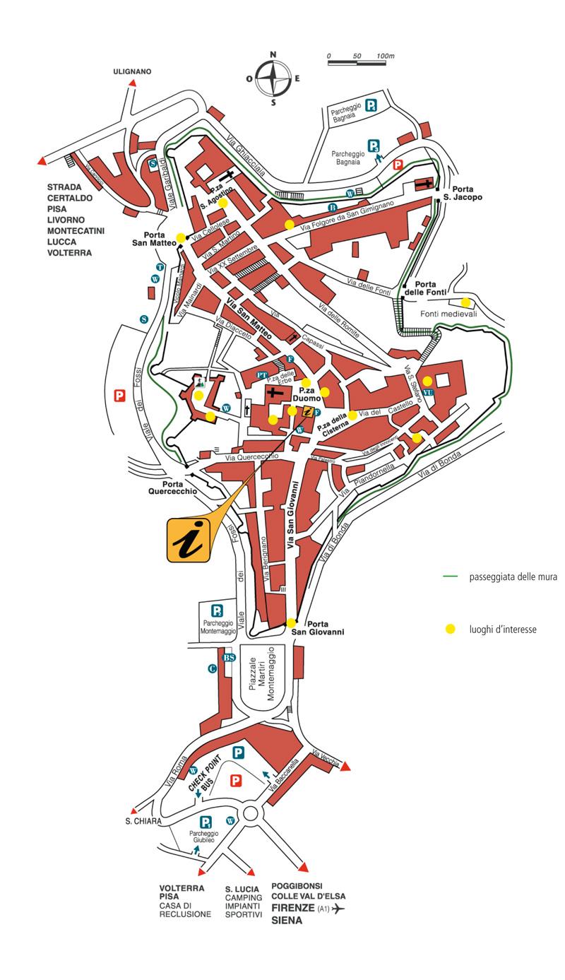 サンジミニャーノの地図