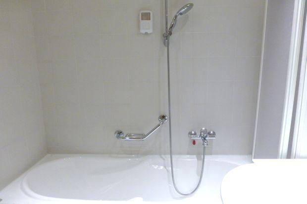ウルビーノのホテル「アルベルゴ・イタリア」のバスルーム