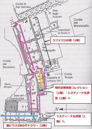 バチカン美術館館内図