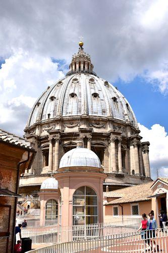 サン・ピエトロ大聖堂のクーポラ(外観)