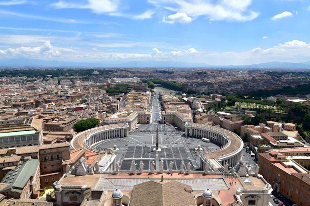 サン・ピエトロ広場の俯瞰写真