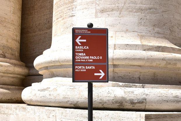 サン・ピエトロ大聖堂の案内板