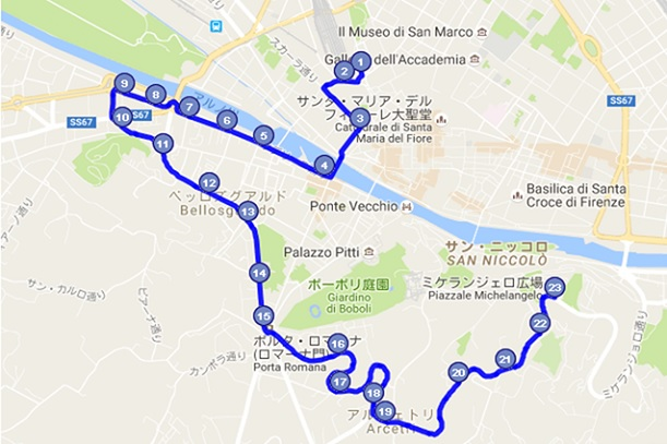 atafバス12番のルート(地図)